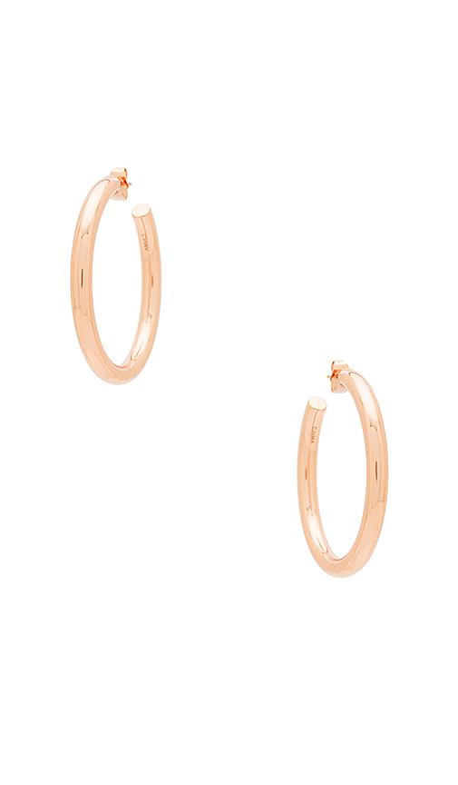 Melanie Auld Modern Hoop Earring in Metallic Copper