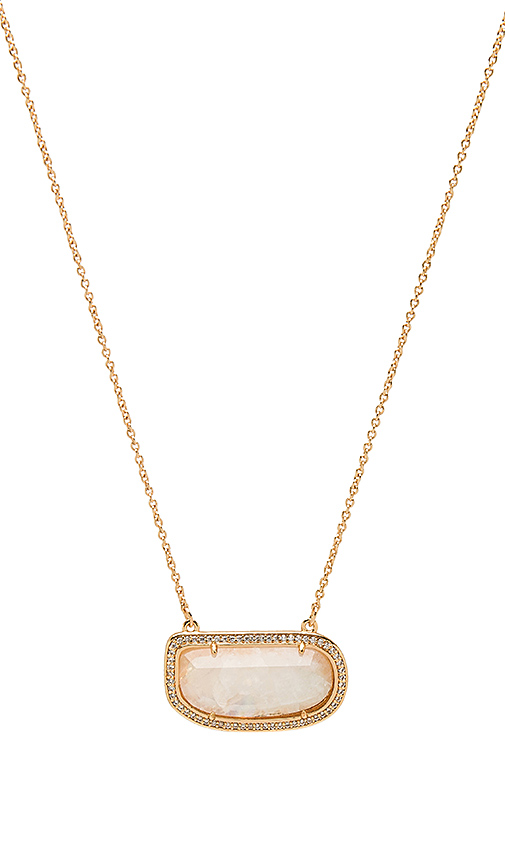 Melanie Auld Stone Slice Necklace in Metallic Gold