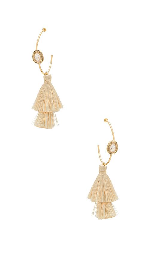 Melanie Auld Pesaro Hoop Earrings in Metallic Gold