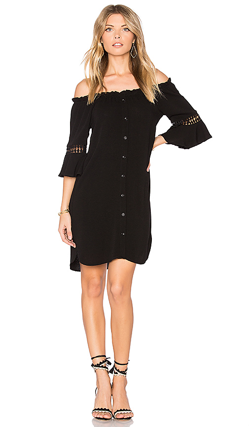 maven west Lexi Pocket Dress in Black