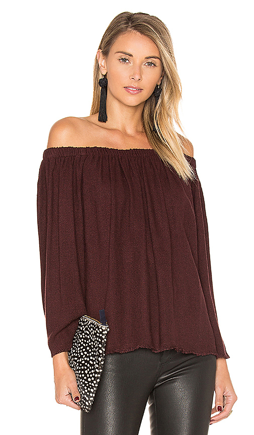 maven west Jenna Top in Burgundy. - size S (also in XS)