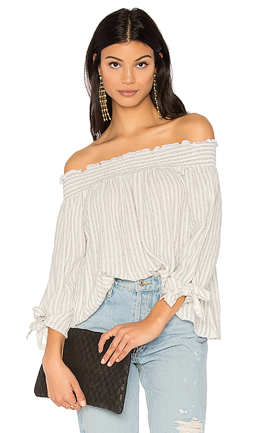 maven west Charlie Top in White
