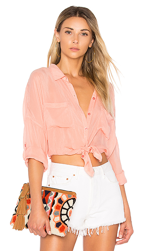 maven west Stella Button Up in Coral