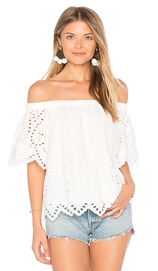 maven west Rosie Top in White