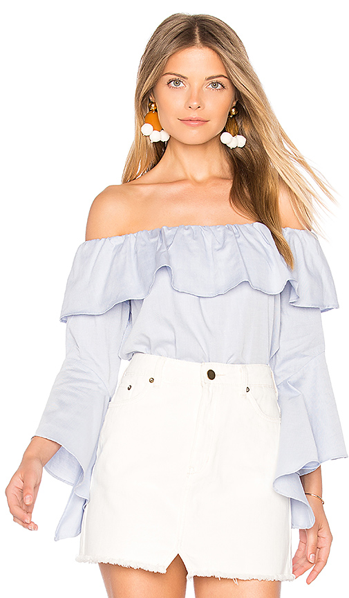 maven west Cambria Top in Blue