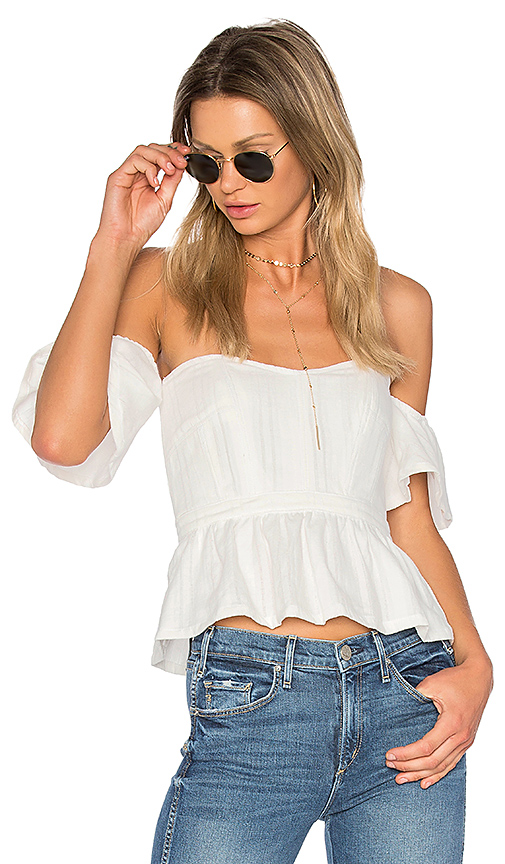 MCGUIRE Petit Trois Bustier in White. - size L (also in M,S,XS)