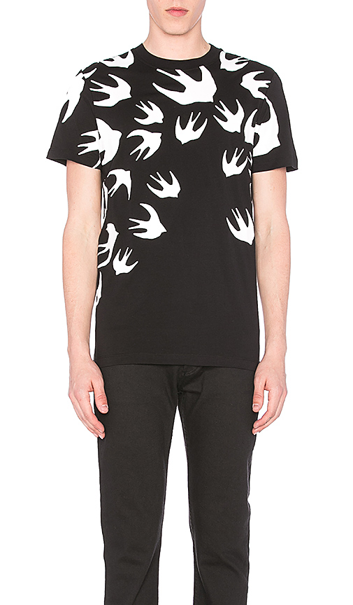 McQ Alexander McQueen S/S Crew Tee in Black. - size L (also in M,S,XL)
