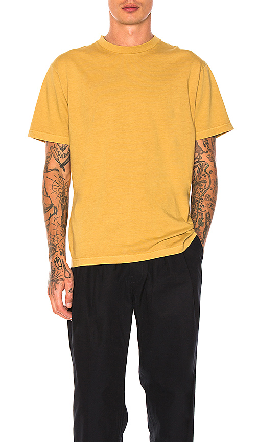 Maiden Noir Natural Dyed Block Tee in Mustard. - size 2 (also in 3,4)