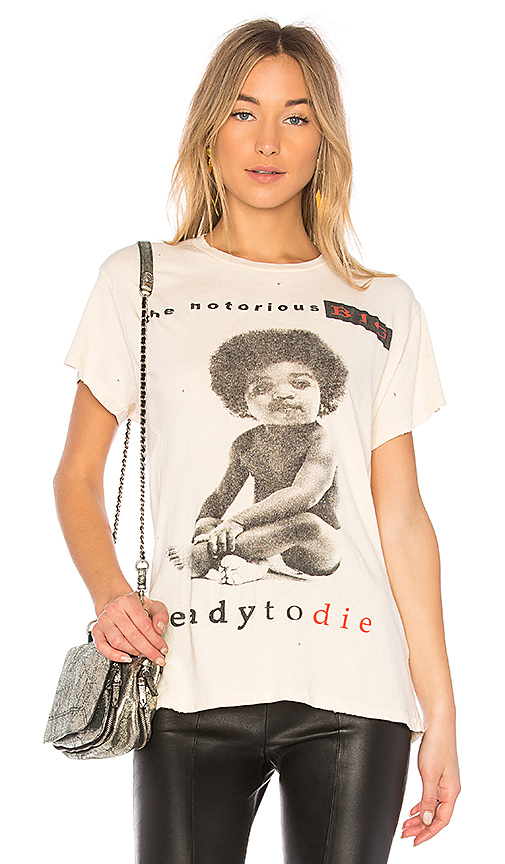 Madeworn BIG Ready To Die Tee in Dirty White in Cream