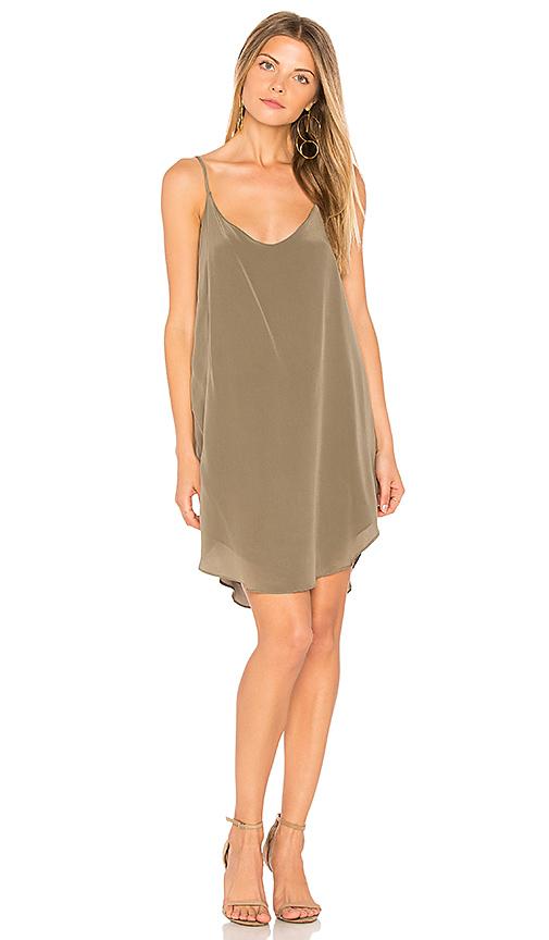 MERRITT CHARLES Goldie Slip Dress in Green