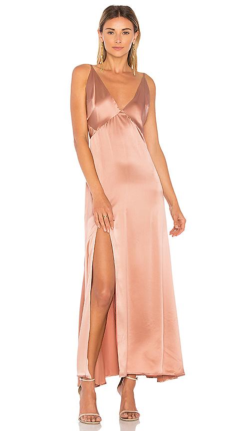 MERRITT CHARLES Pacino Gown in Brown