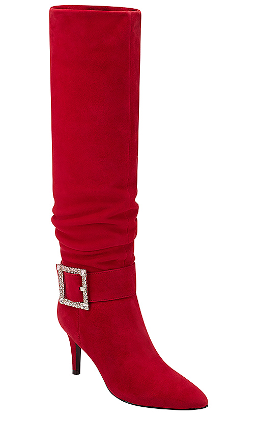 Marc Fisher X Elizabeth Sulcer Gresha Boot in Red