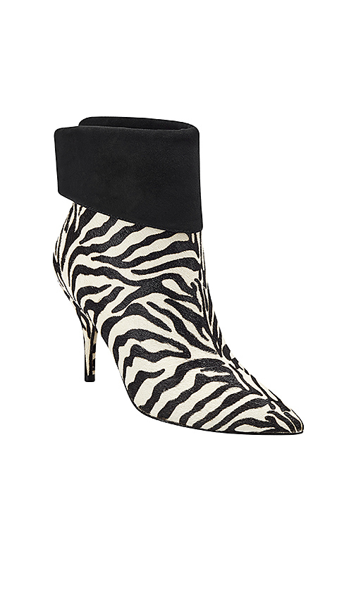 Marc Fisher X Elizabeth Sulcer Fifily Booties in Black & White