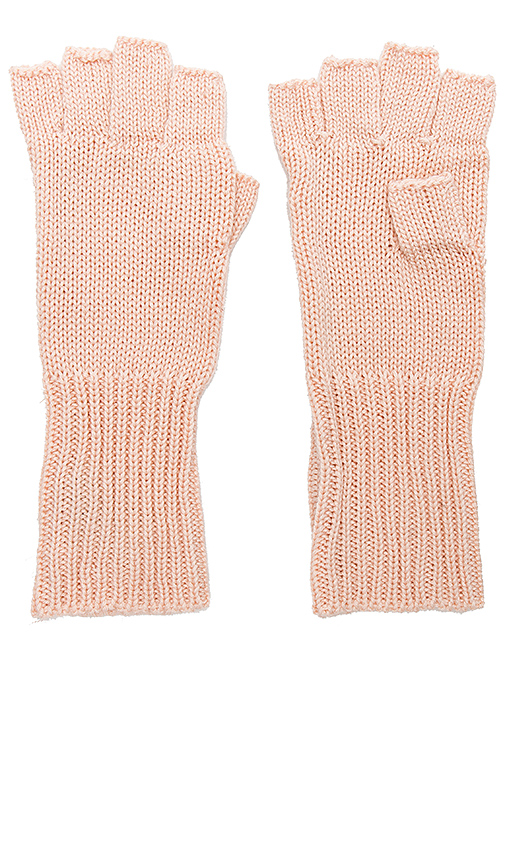 Michael Stars Give Me Some Cashmere Fingerless Gloves in Blush.