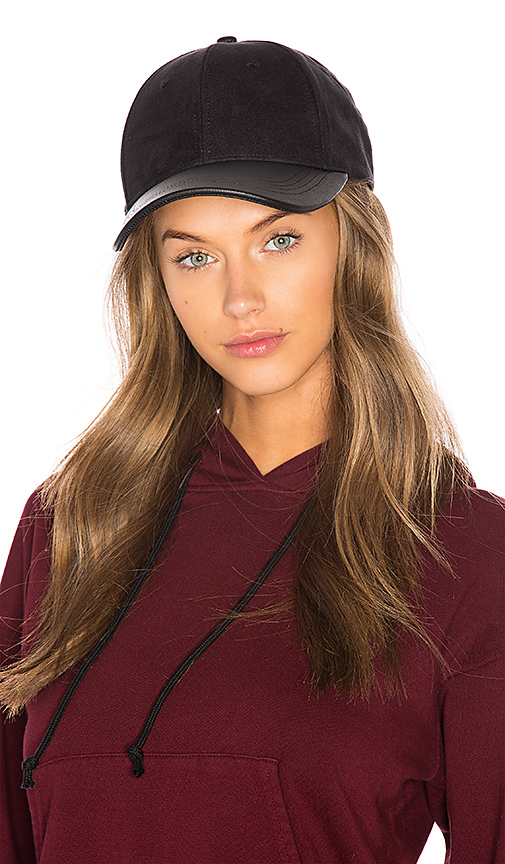 Michael Stars Suddenly Suede Baseball Hat in Black