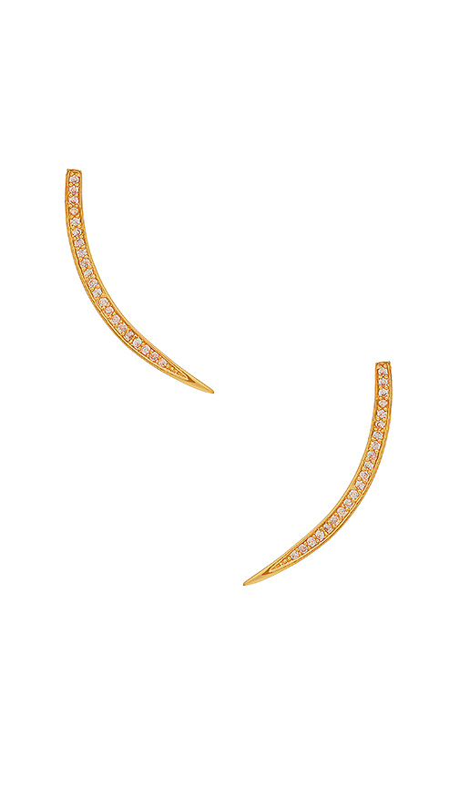Michelle Campbell Pave Moon Ear Crawlers in Metallic Gold