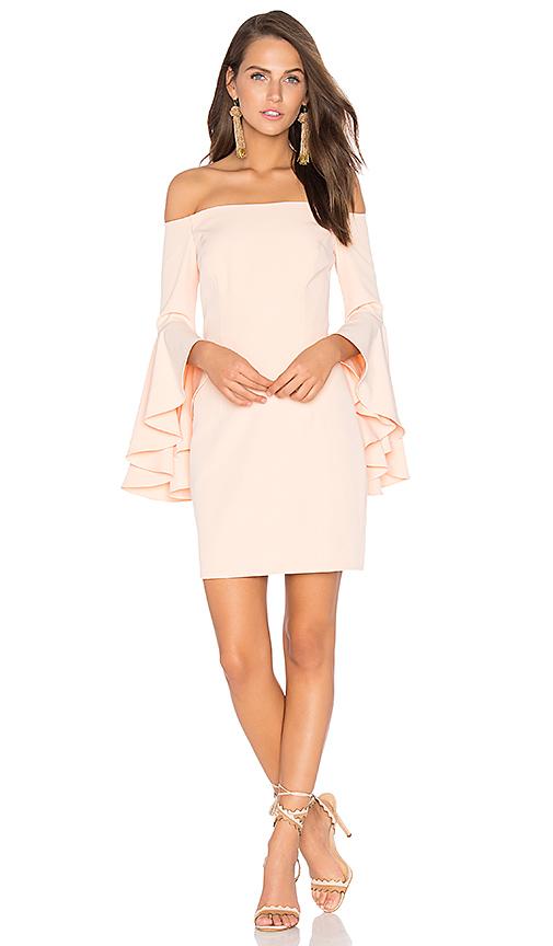 MILLY Selena Mini Dress in Peach