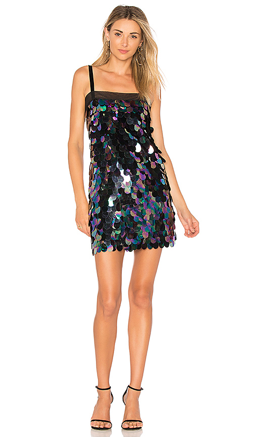 MILLY Sequin Mini Dress in Navy