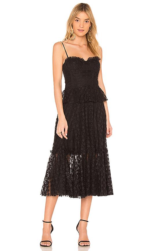 MILLY Miranda Dress in Black