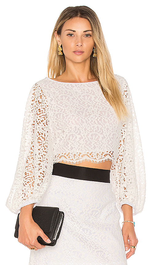 MILLY Camilla Top in White