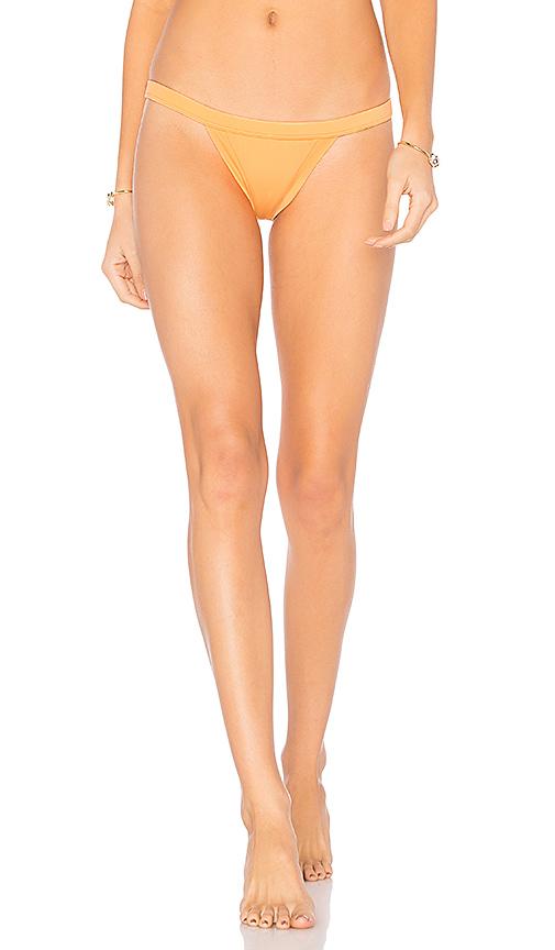 MILLY Italian Solid Cheeky Bikini Bottom in Orange