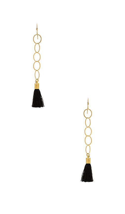 Mimi & Lu Jodi Earrings in Metallic Gold