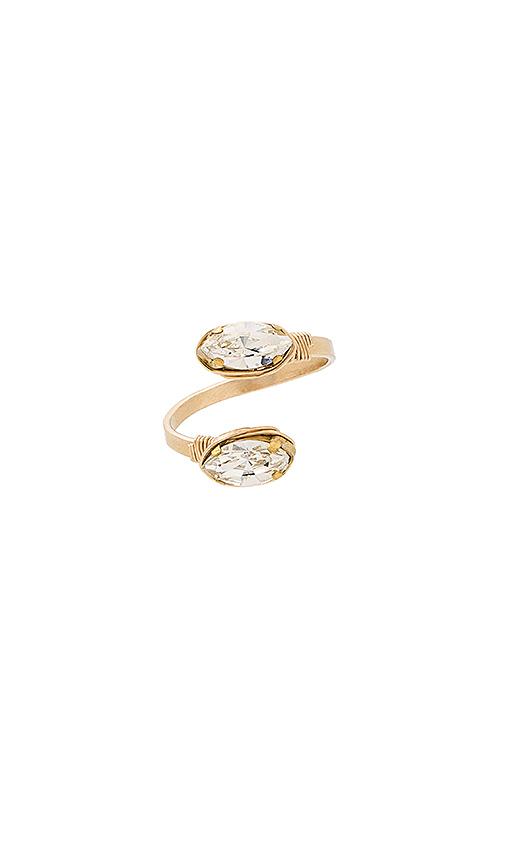 Mimi & Lu Scarlett Ring in Metallic Gold.