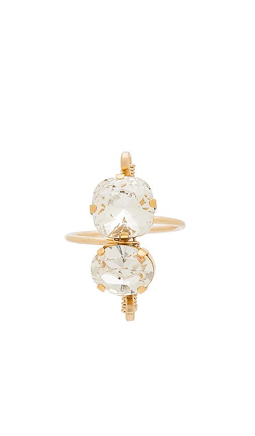 Mimi & Lu Alma Ring in Metallic Gold.