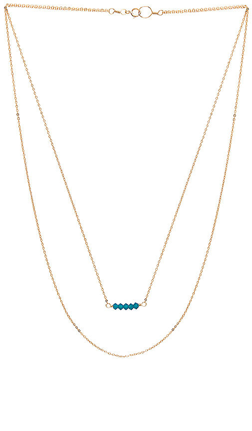 Mimi & Lu Double Layer Edith Necklace in Metallic Gold