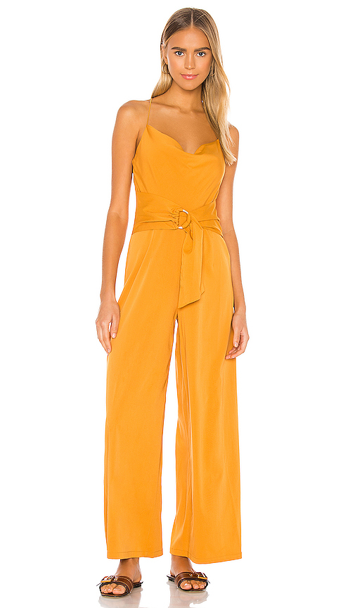 Minkpink COWL NECK JUMPSUIT WITH D-RING