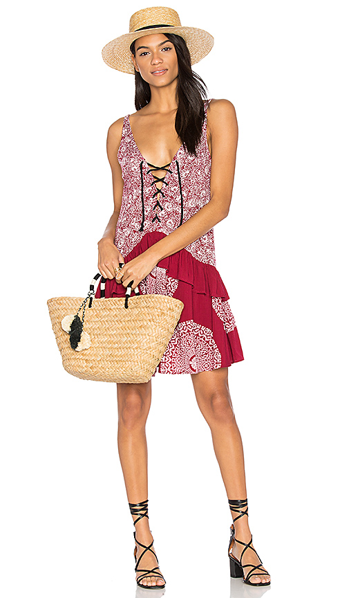 MINKPINK Mandala Wonder Dress in Red