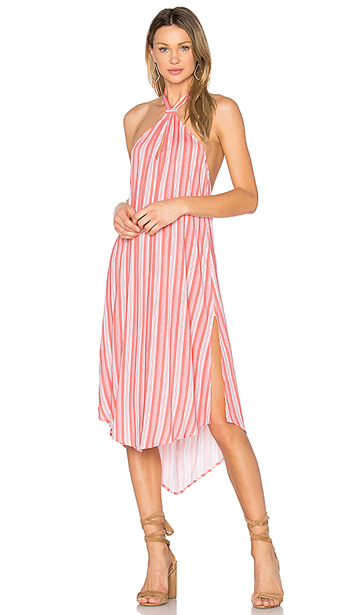 MINKPINK Haiti Halter Dress in Coral