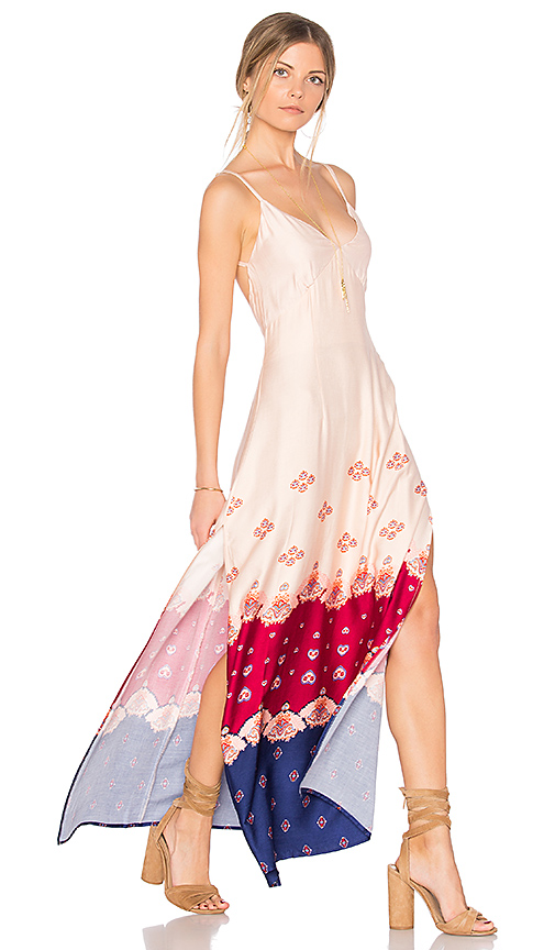 MINKPINK Setting Sun Slip Dress in Ivory