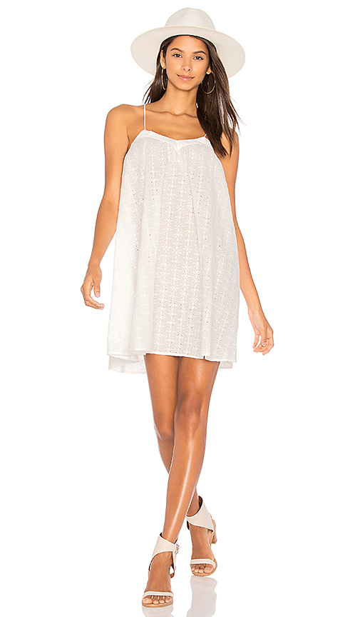 MINKPINK In the Clouds Trapeze Dress in White