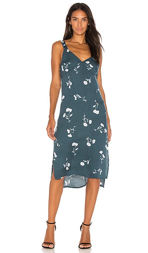 Photo of MINKPINK Falling Blooms Midi Slip Dress in Dark Green - shop MINKPINK dresses sales