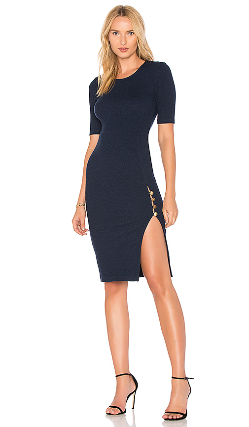 MINKPINK Roma Midi Dress in Navy