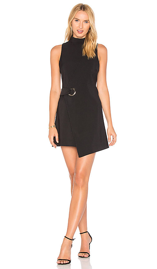 MINKPINK Eyelet Wrap Dress in Black