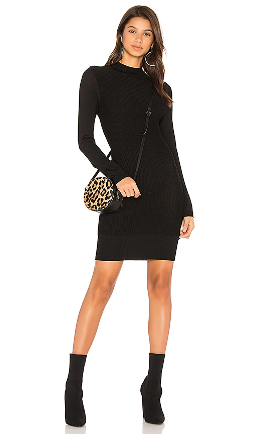 MINKPINK Ripple Jumper Dress in Black