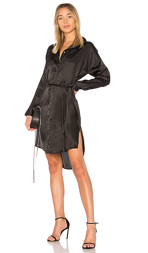 MINKPINK Piper Shirt Dress in Black