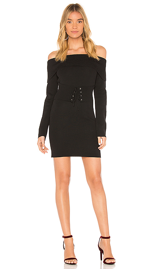 MINKPINK Hold Tight Corset Knit Dress in Black