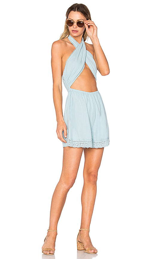 MINKPINK Mecury Blues Playsuit in Blue