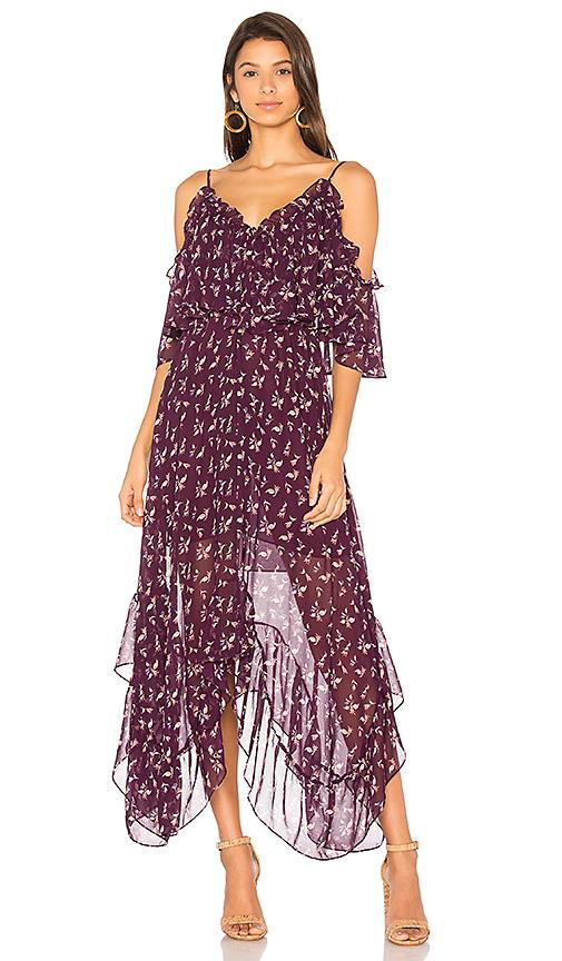 MISA Los Angeles Desi Dress in Purple
