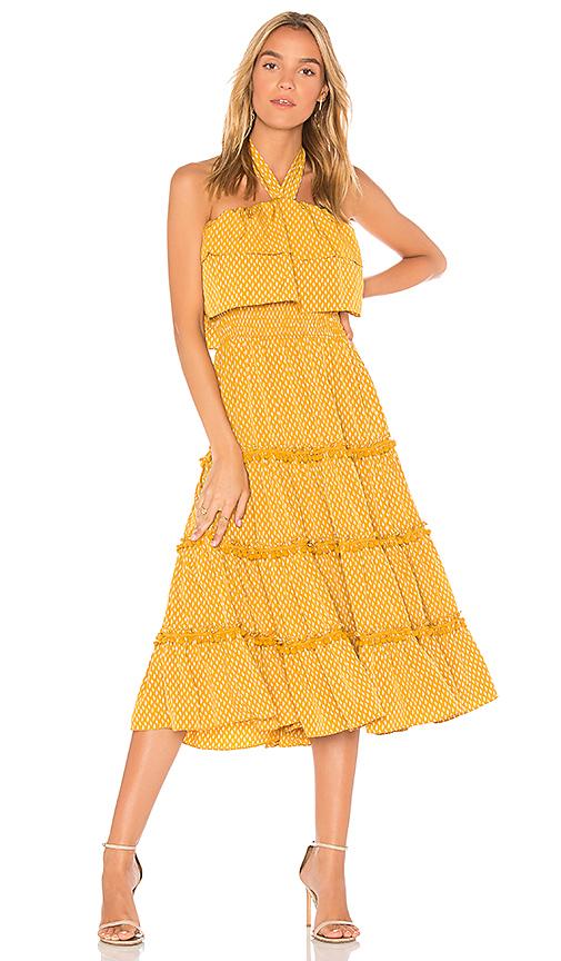 MISA Los Angeles Asya Dress in Mustard