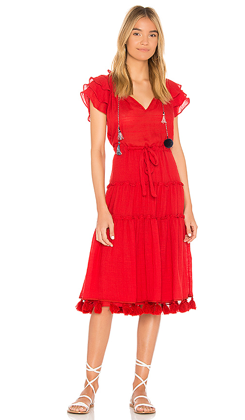 MISA Los Angeles Roza Dress in Red