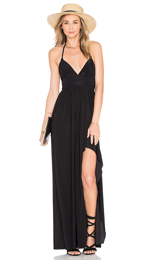 MISA Los Angeles Ever Maxi Dress in Black