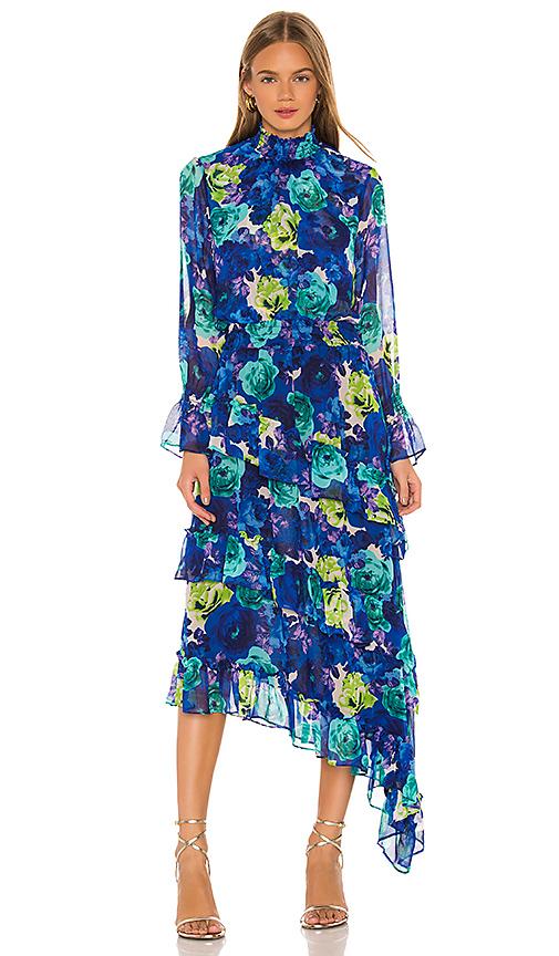 Misa Dresses MISA LOS ANGELES RANIA MIDI DRESS IN BLUE,GREEN,PURPLE.