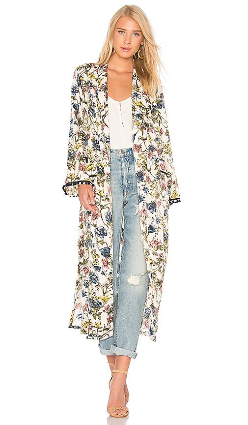 MISA Los Angeles Malina Duster Kimono in Ivory