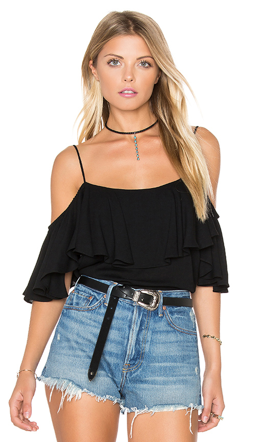 MISA Los Angeles Marina Top in Black