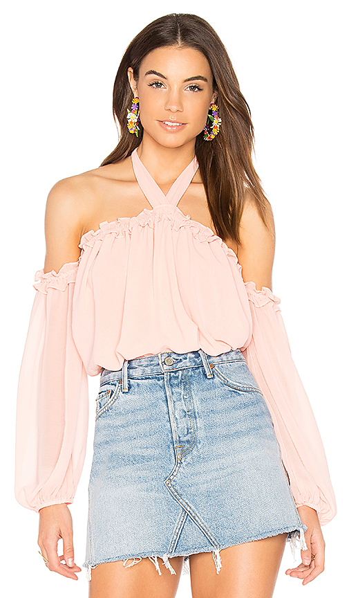MISA Los Angeles Livey Top in Pink