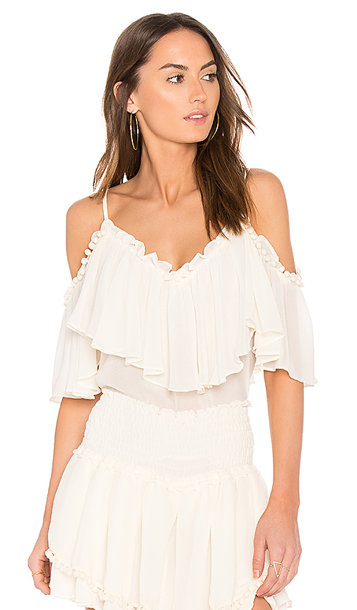 MISA Los Angeles Clara Top in Ivory